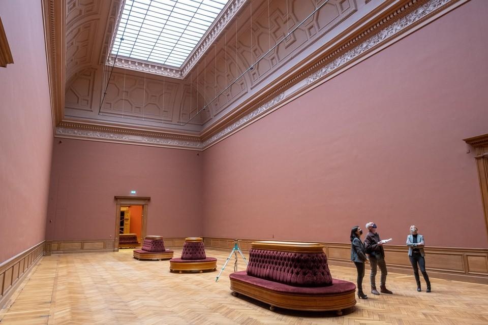 De Rubenszaal wacht op gouddecoratie en de Rubensen.