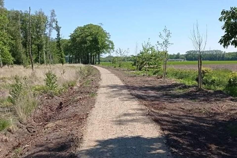 Het pad langs de Hooibeek.