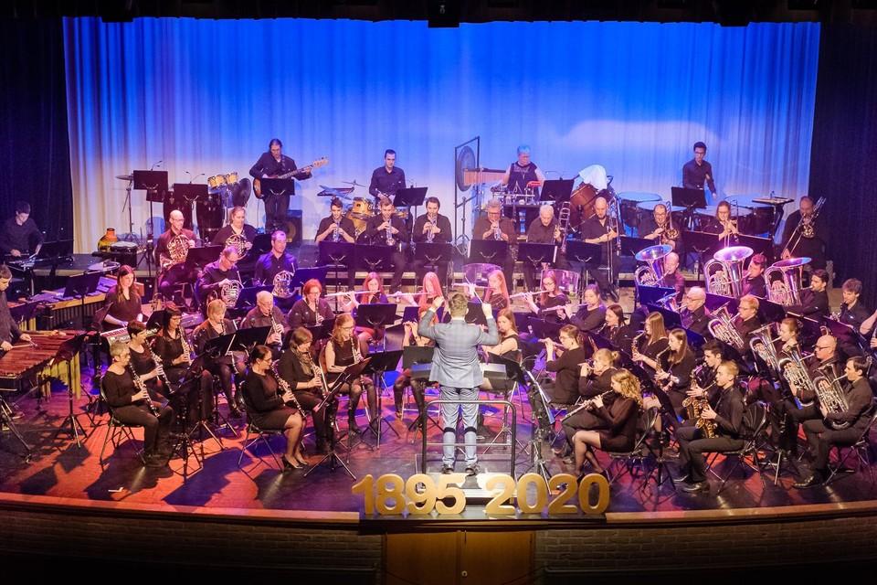 Harmonie Sint-Jorisgilde, hier anno 2020, geeft een eerste optreden sinds de pandemie