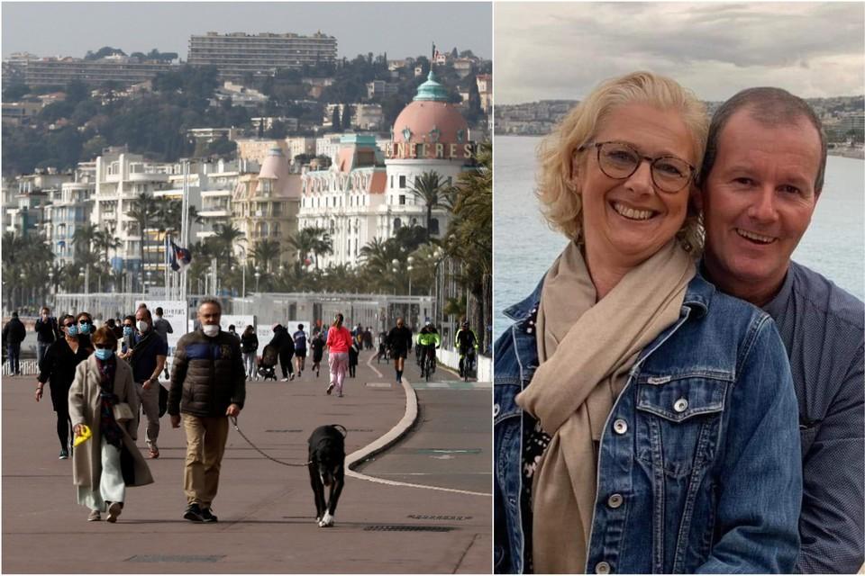 Véronique Van Vlierberghe (54) en Stefaan Beirens (53) getuigen vanuit Tourrettes-sur-Loup.