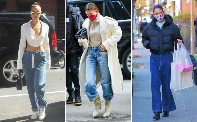Vlnr: Bella Hadid, Hailey Bieber en Katie Holmas