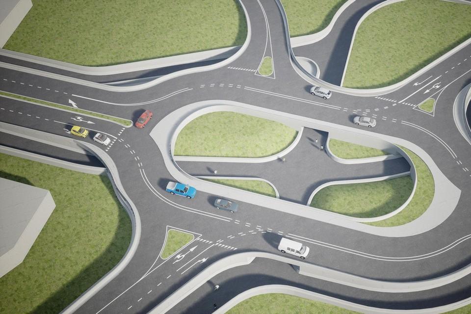 Auto- en fietsverkeer zullen volledig gescheiden worden.