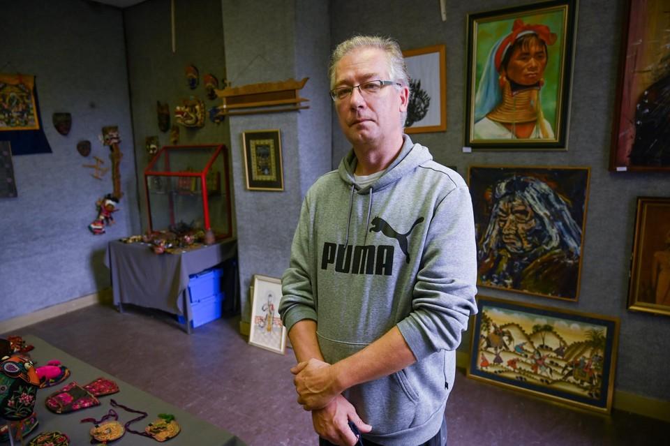 Ernie Vonck van het museum in kasteel Ieperman en organisator van de etnografische beurs