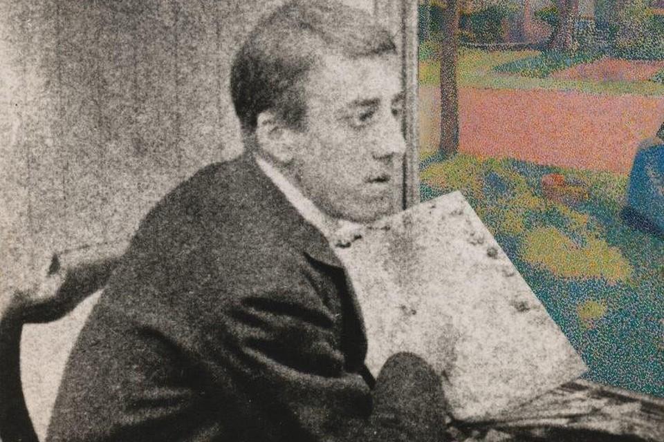 Henry Van de Velde schildert in Gasthof De Keyzer in Wechelderzande in 1889.