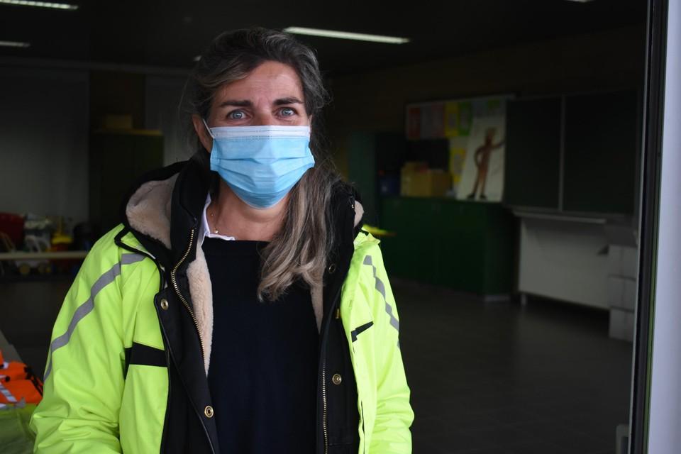 Carine Mertens van het Verkeerseducatief Centrum.