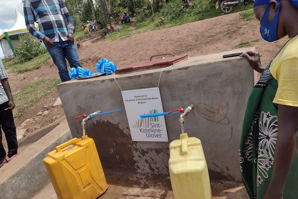 Dankzij de steun van de gemeente kon Impore eerder al een waterleiding aanleggen in Rwanda.