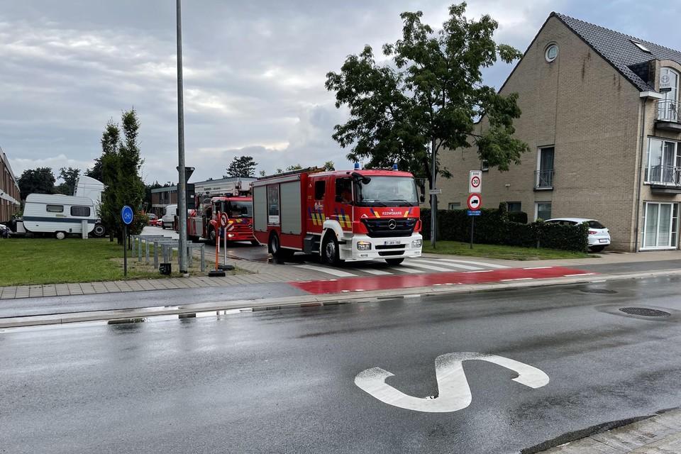 De brand in de Pastoor Berchaensstraat was snel onder controle.