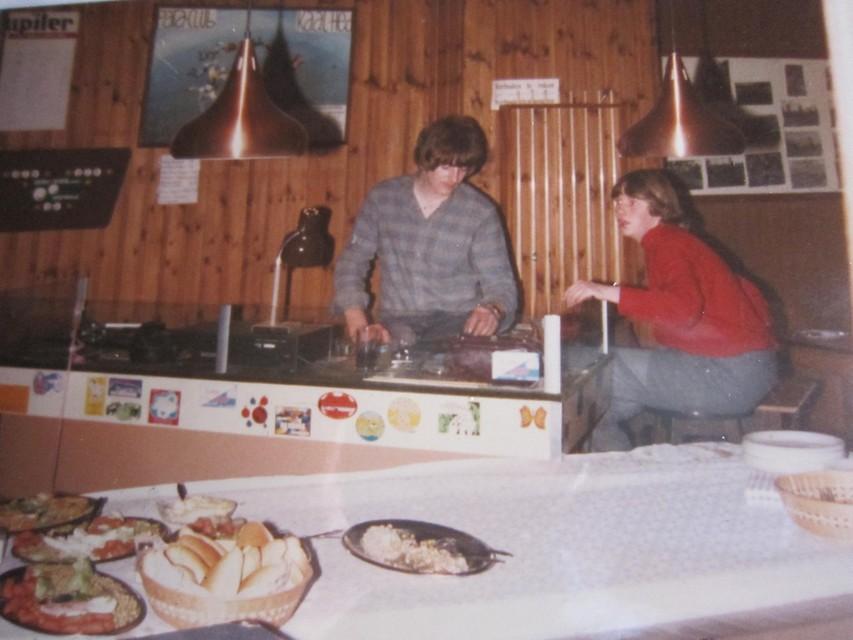 Een 'discobar' in de jaren tachtig in Het Anker.
