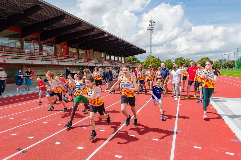 Atleten van RAM hebben woensdag hun nieuwe piste officieel in gebruik genomen.