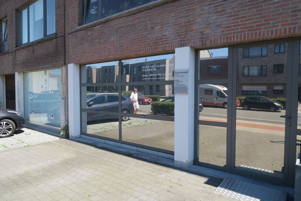 De stopgezette huisartsenpraktijk van Elke Van Vlimmeren in de Sint-Damiaanstraat.