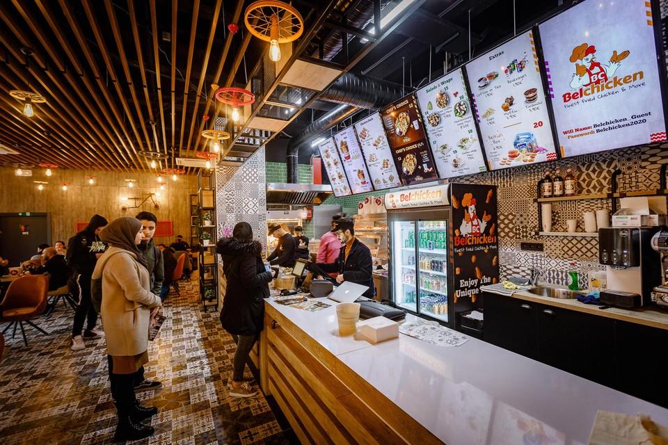 Het restaurant van Belchicken in Mechelen, dat begin vorig jaar opende.