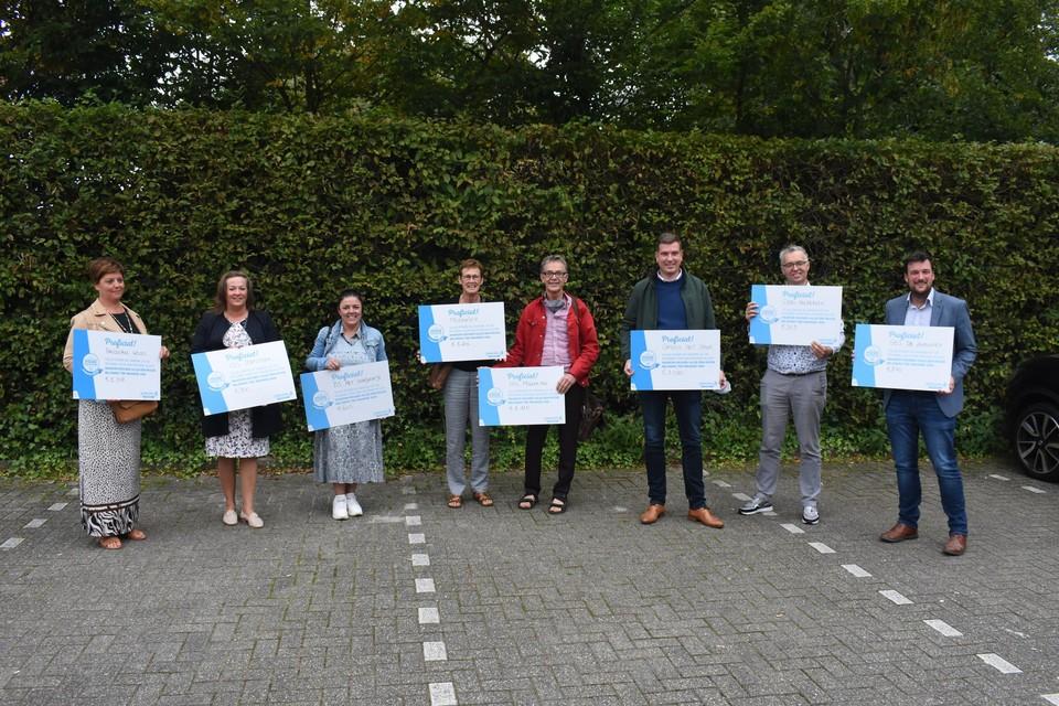 De deelnemende scholen werden beloond voor hun inspanning.