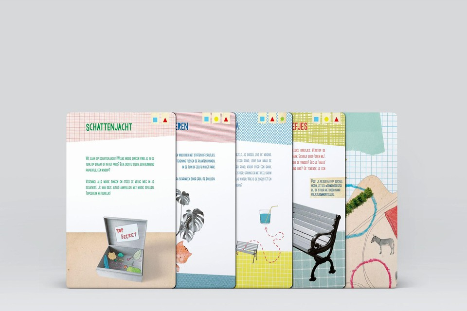 De activiteiten van het Zomer-Doe-Spel staan op de kaarten.