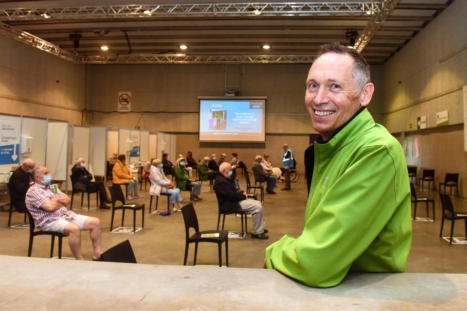 Manager Eddy Laeremans neemt op 31 augustus afscheid van 'zijn' vaccinatiecentrum De Waai in Geel.