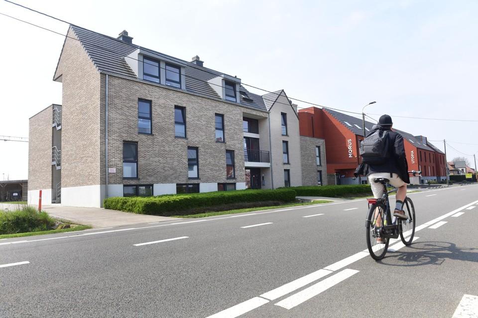 Het gebouw dat logement biedt aan dertig studenten van de Thomas More-hogeschool, in Geel.
