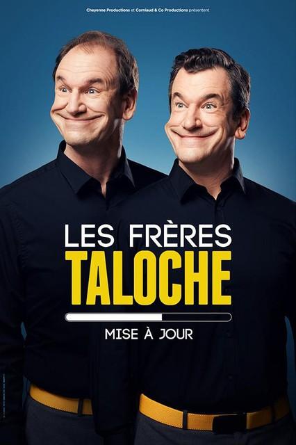 Komieken Bruno en en zijn broer Vincent Taloche op de affiche van één van hun producties die ze opvoerden in Waalse theaters.