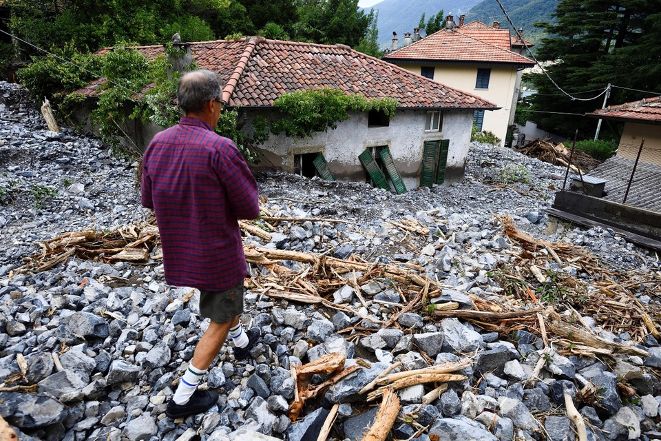 Situatie na overstromingen in Italië.
