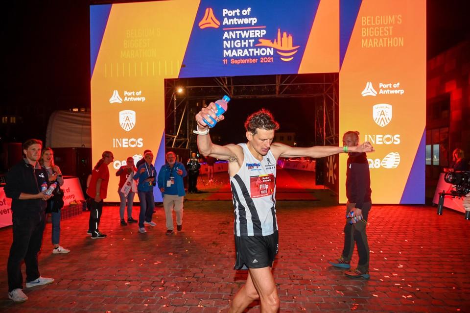 Marathonwinnaar Filip Vercruysse.