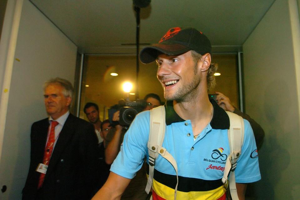 Tom Boonen werd in 2005 wereldkampioen in Madrid.