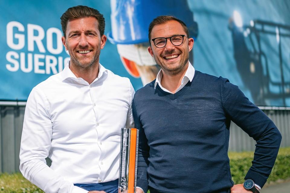 Zaakvoerders Christophe (links) en Olivier Suerickx zijn bijzonder opgetogen met de nominatie.