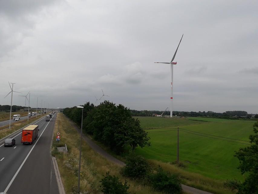 In juni werd de laatste hand gelegd aan de turbine in Brecht.