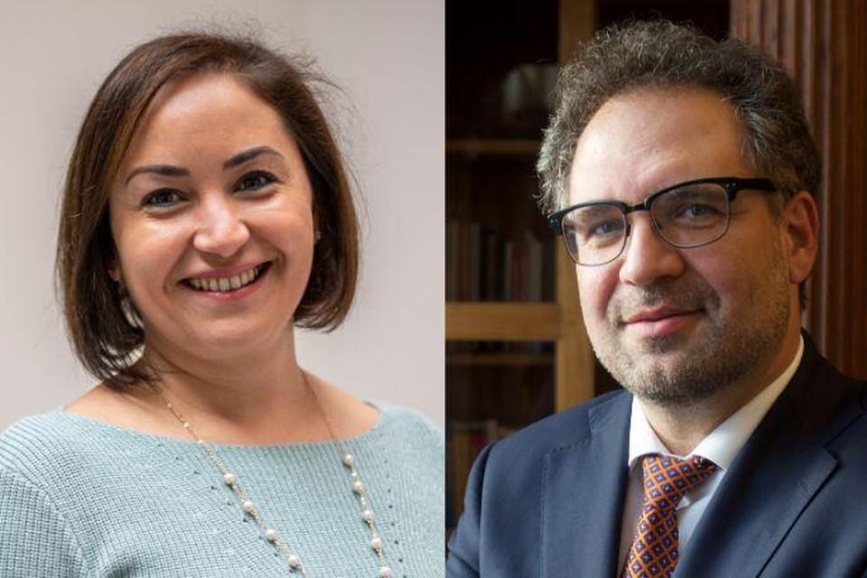 Schepenen Nabilla Ait Daoud en Koen Kennis.
