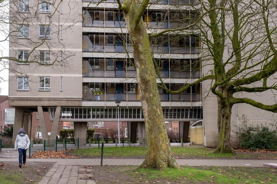 Een van de sociale woonblokken van architect Renaat Braem.