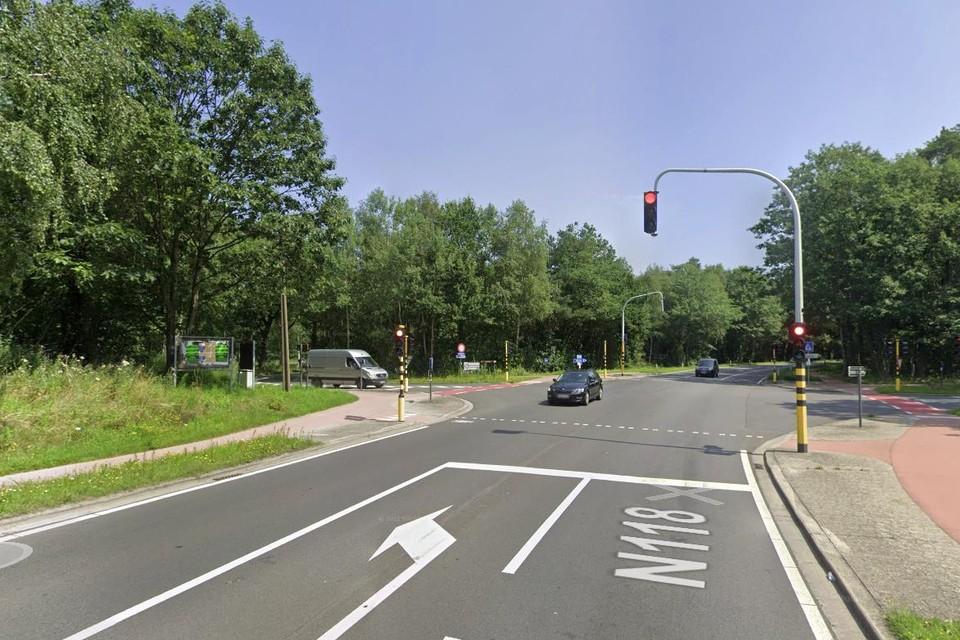 Op dit kruispunt deed zich vorige week vrijdag het ongeval met vluchtmisdrijf voor.