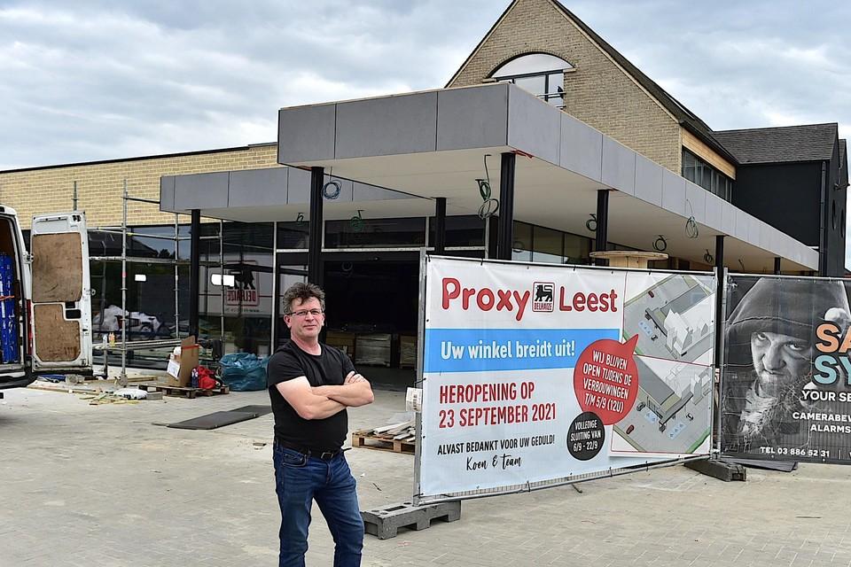 Koen Asselman voor de vernieuwde Proxy Leest die volgende week opnieuw de deuren opent.