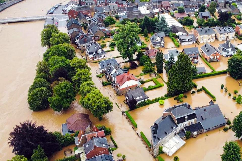 Langs de rivier de Ourthe vonden er vorige week verschillende overstromingen plaats door het noodweer.