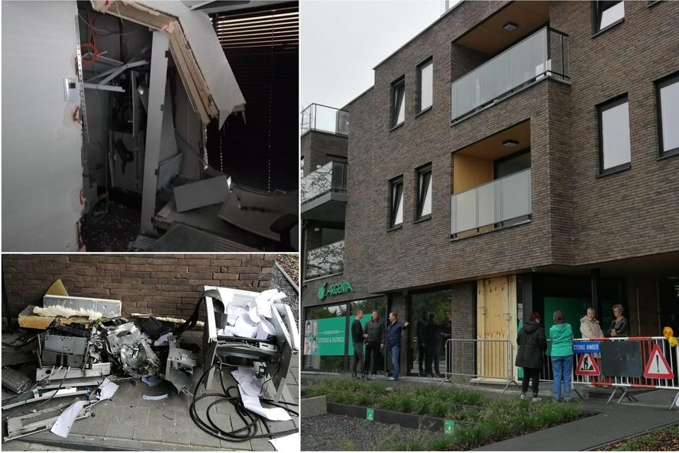 De schade aan het gebouw van de Argenta-bank in het centrum van Herselt is groot na een plofkraak op 5 oktober 2019. De rechtbank heeft de drie daders veroordeeld tot strenge celstraffen.