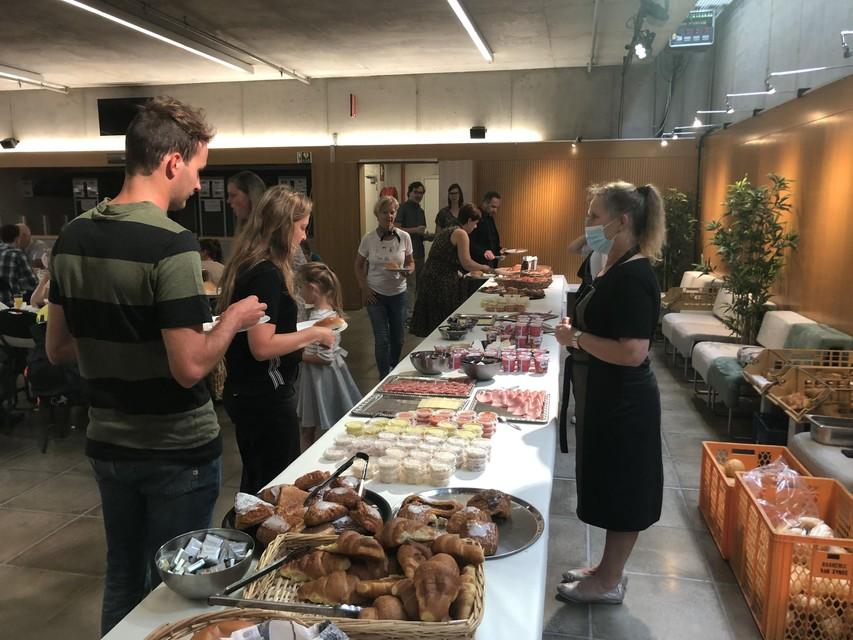 Er stond uitgebreid buffet klaar