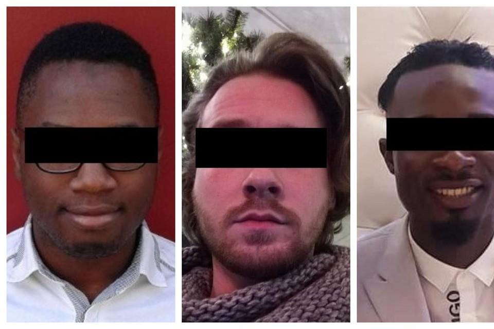 Verdachten Amara K., Timmy M. en Amadou F.