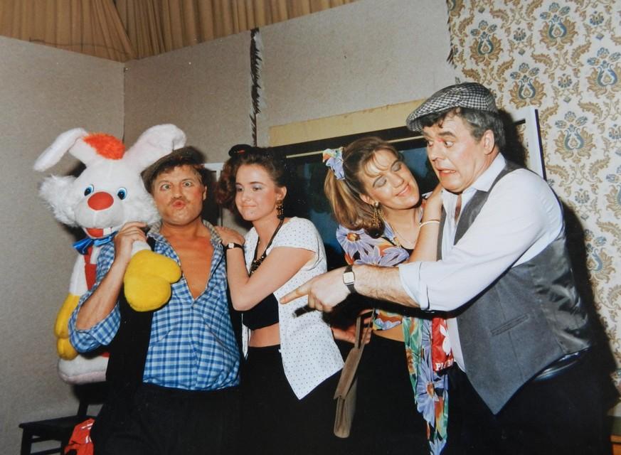 Rik Verstrepen (rechts) speelde mee toneel met Broederband.