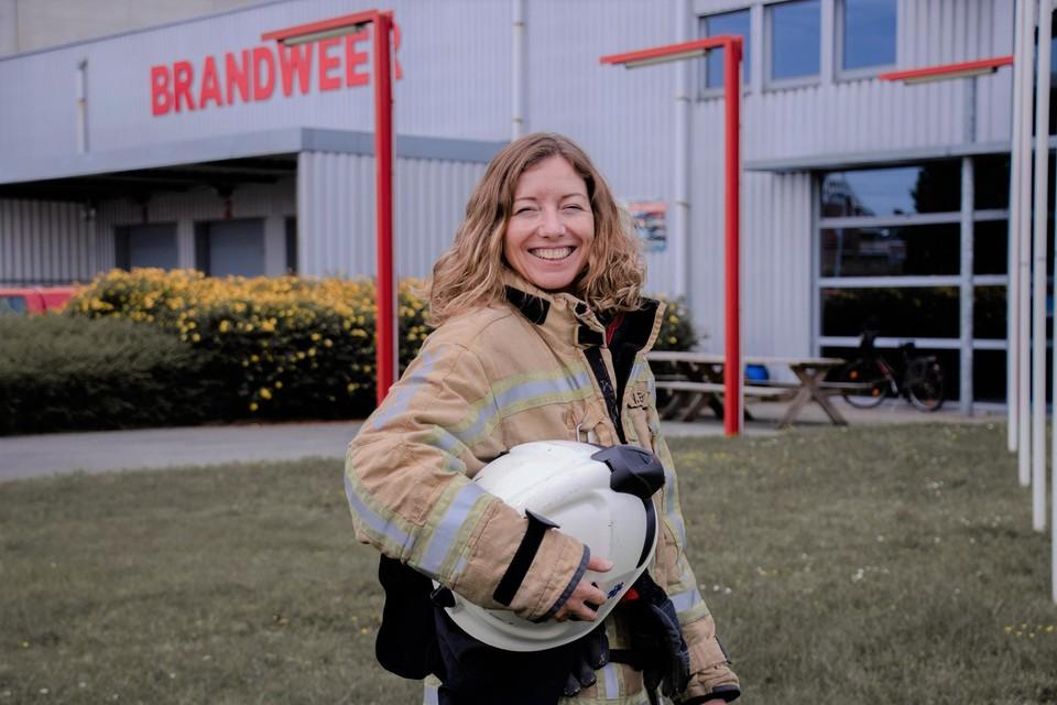 """""""De brandweer is een verslaving"""", getuigt Wendy De Bondt."""