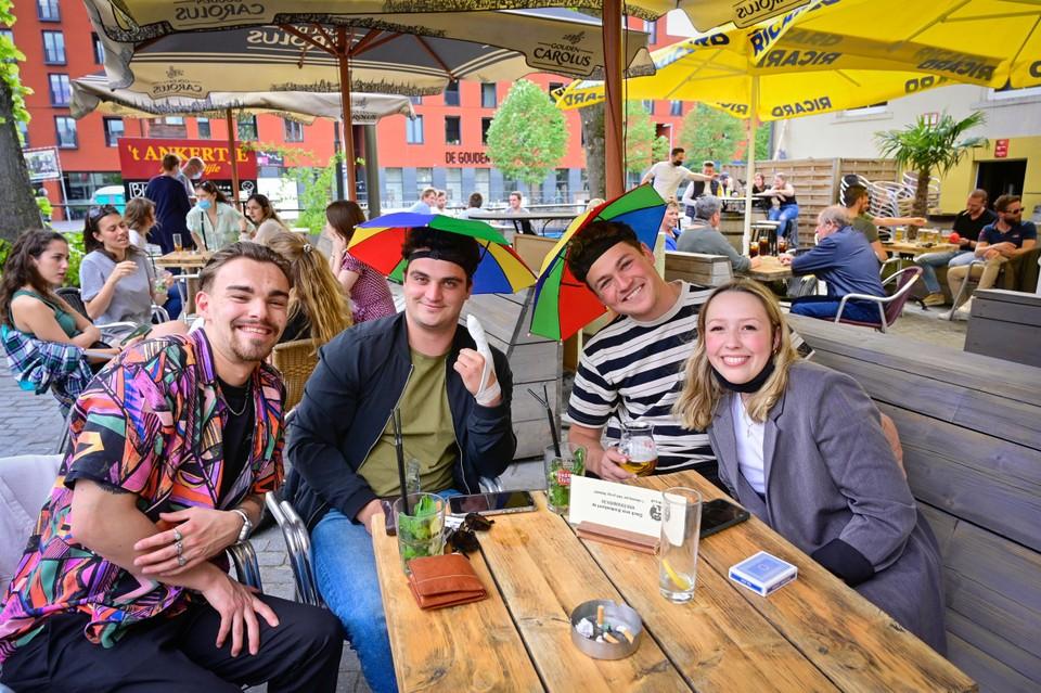 Sybe, Laurens, Maxime en Remko waren zowel zaterdag als zondag van de partij. Weliswaar zondag ietsje later op de dag.