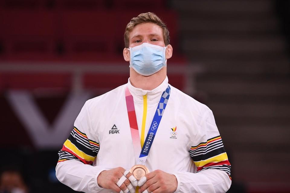 Matthias Casse zorgde voor de tweede Belgische medaille. Het werd brons.
