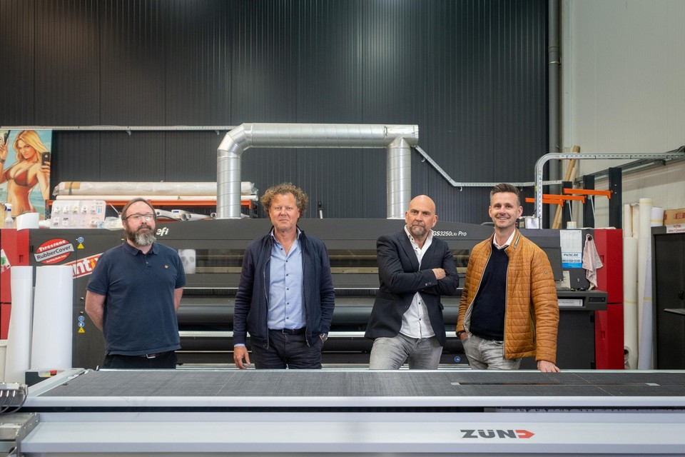 Johan Ceuleers, Wim Voss, Alain Jacobs en Wesley Dewachter van Viaprintix.