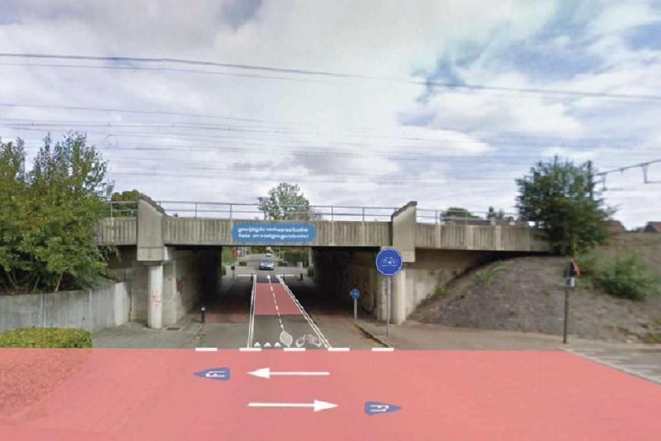 De fietsostrade krijgt in het straatbeeld duidelijk voorrang.