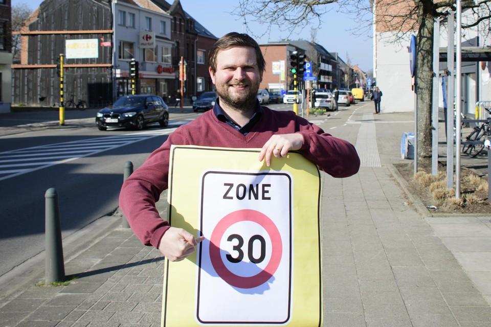 Het centrum wordt een langgerekte zone 30.