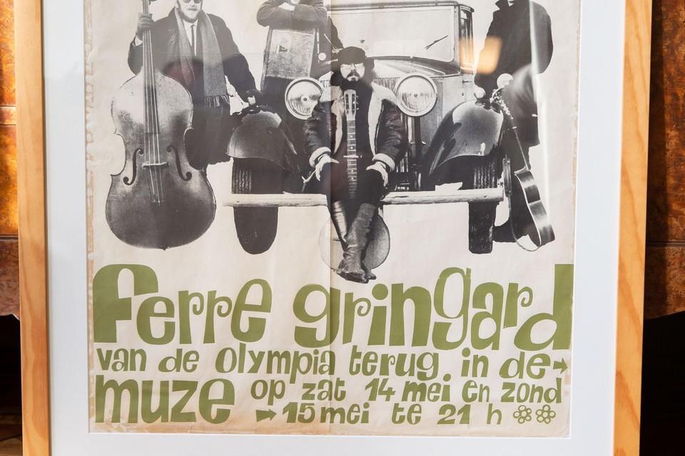Het Letterenhuis heeft een zeldzame affiche van Ferre Grignard op de kop kunnen tikken. Ook dat behoort tot de colllectie.