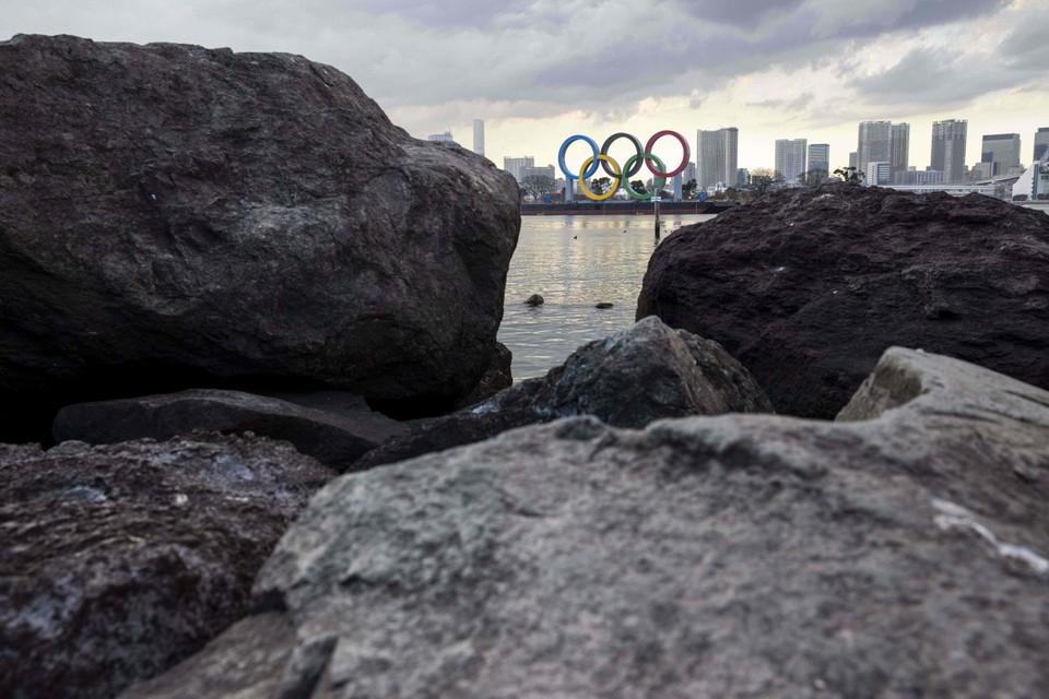 De baai van Tokio, waar normaal gezien heel wat olympische competities zullen plaatsvinden.