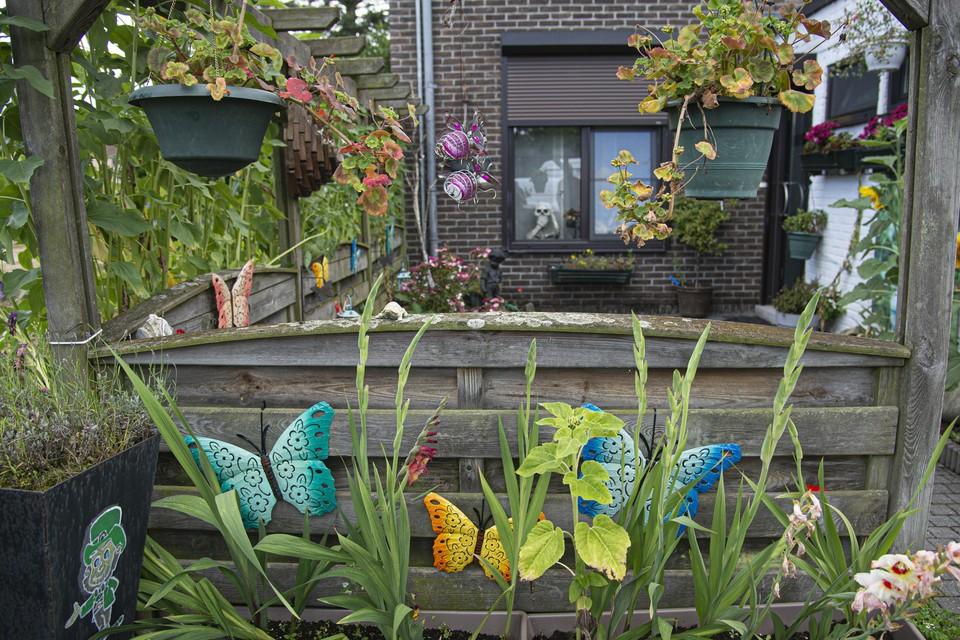 Het kleurrijke tuintje in Brasel.