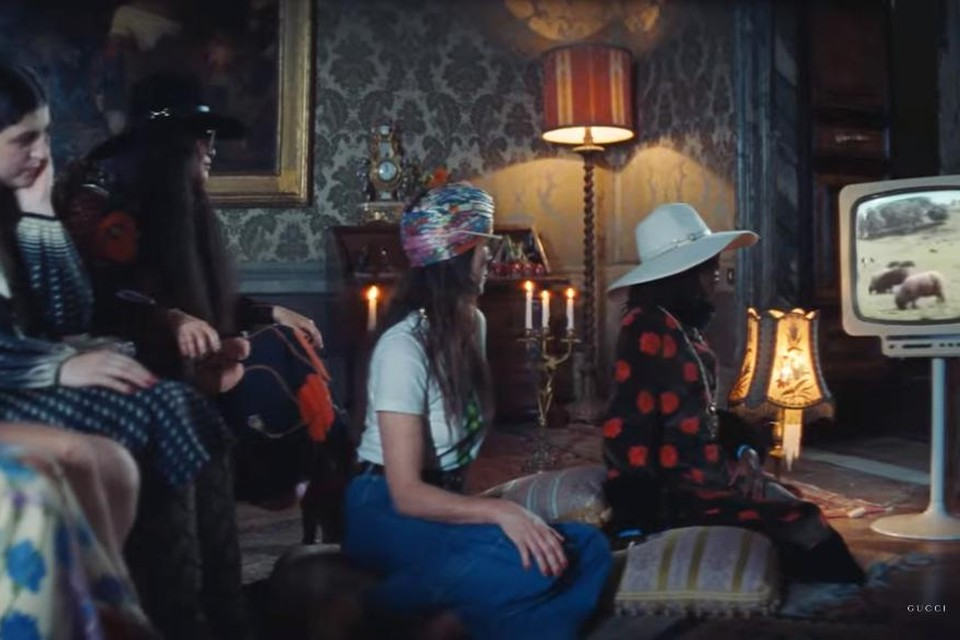 Uit het filmpje voor Epilogue van Gucci.