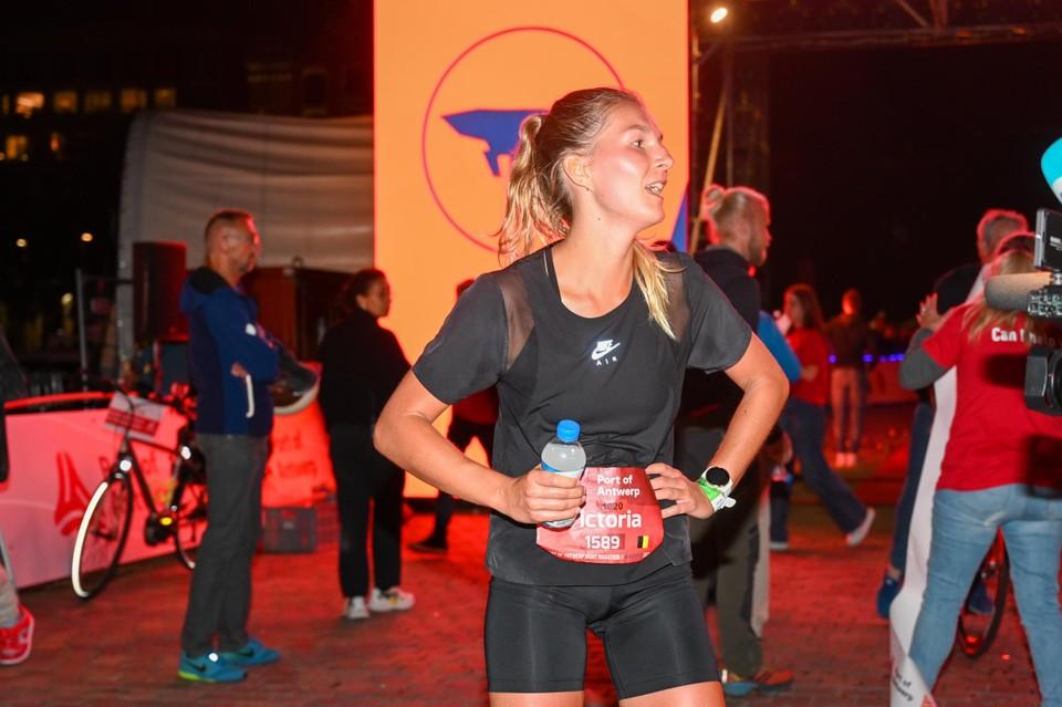 Victoria Warpy liep de snelste tijd bij de vrouwen.