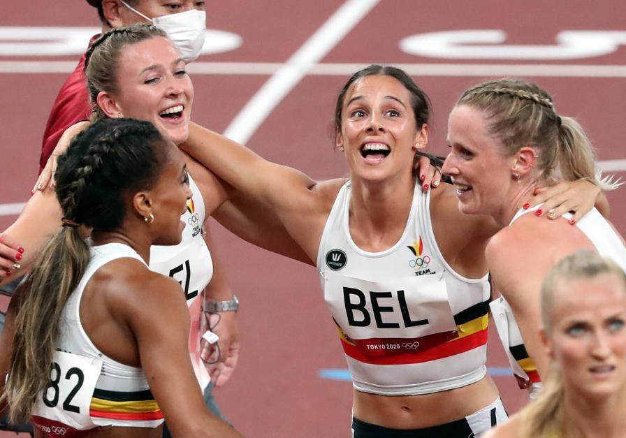 Belgisch feestje op de piste in Tokio: de Belgian Cheetahs hebben zich in stijl geplaatste voor de finale van de 4x400m.