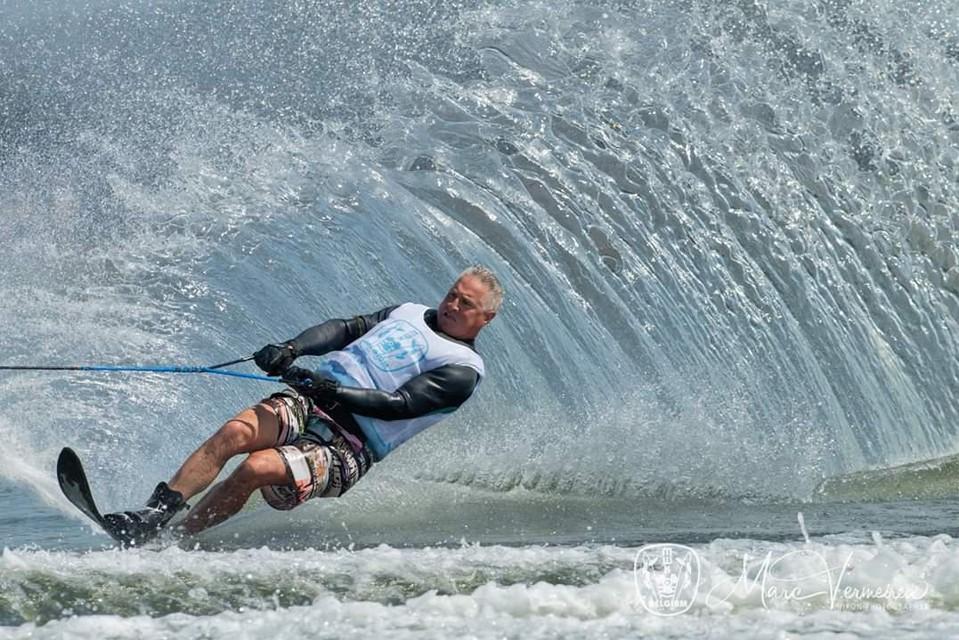 Ferdi Tyteca in volle actie in de slalom.