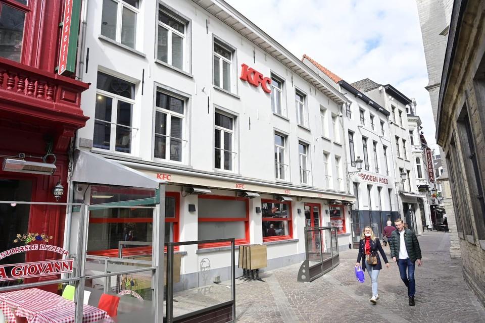 KFC palmt het pand in waar tot voor kort pizzarestaurant Da Giovanni een van zijn vestigingen had.
