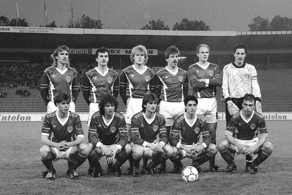 De nationale ploeg van Joegoeslavië in 1992.