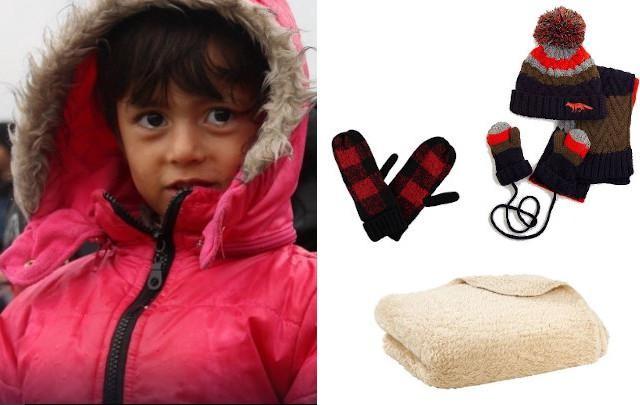 Setje met muts, sjaal en handschoenen voor kinderen - 19,95 euro - JBC, geruite handschoenen - 14,99 euro - Veritas en zacht dekentje - 14,95 euro - Casa